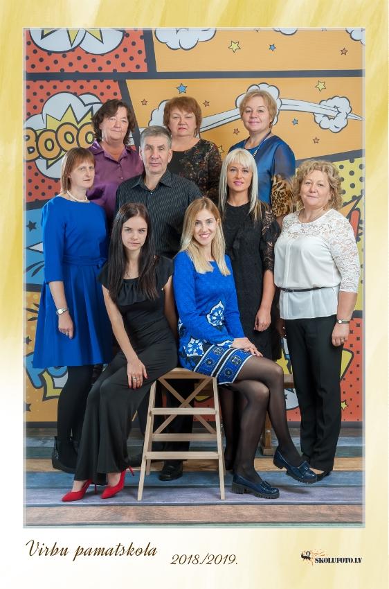 Virbu pamatskolas pedagogi 2018/2019